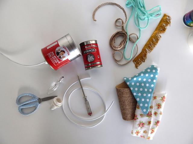 DIY: Φωτιστικά από κονσέρβες