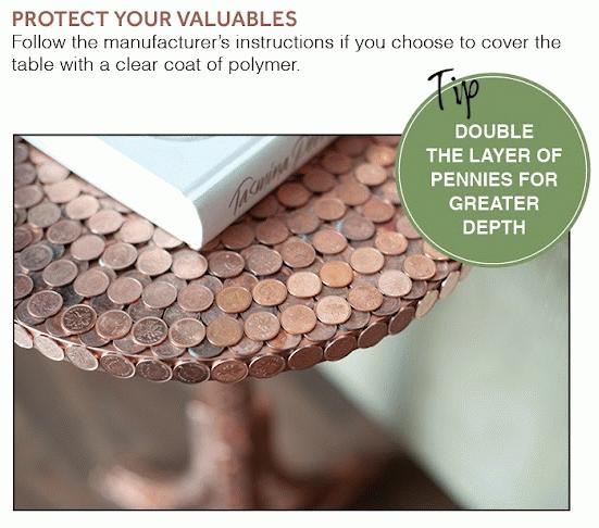 Φτιάξτο μόνος σου: Τραπεζάκι από κέρματα