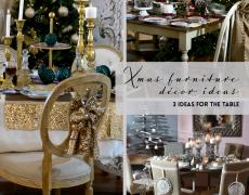 Χριστούγεννα με έπιπλα inart: 3 ιδέες για τη διακόσμηση του τραπεζιού