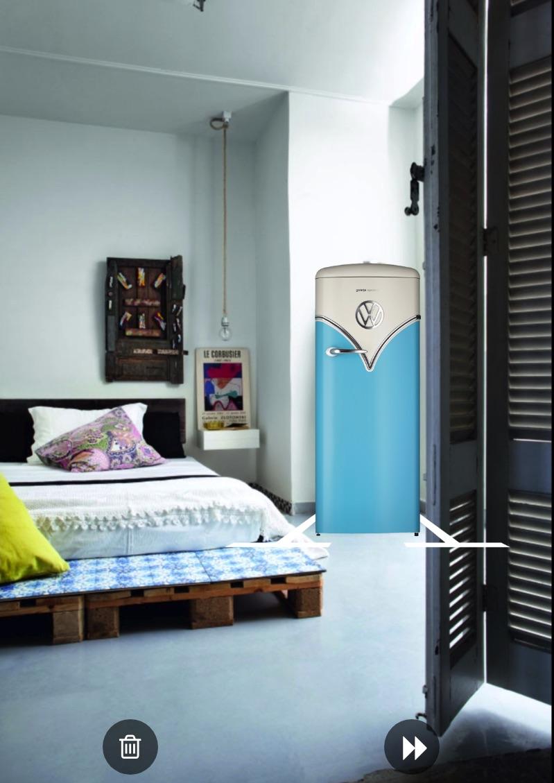rdeco_vw fridge in my bedroom gorenje
