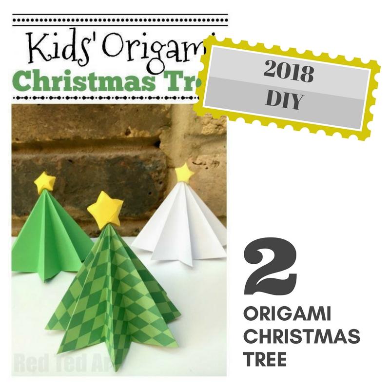 RDECO_CHRISTMAS TREE ORIGAMI 2-πρωτοχρονιάτικος μπουφές